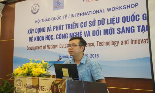 """Hội thảo """"Xây dựng và phát triển cơ sở dữ liệu quốc gia về Khoa học, Công nghệ và Đổi mới sáng tạo"""""""
